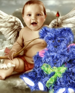 Cupid Baby and blue bears (515x640)