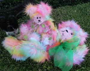 Rainbow Momma Bear Reclining and Baby Bear