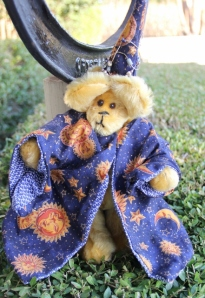 Wizard--golden mohair bear