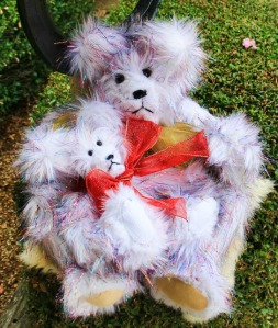 Tinsel Bear Momma and Baby
