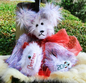Christmas Tinsel Bear