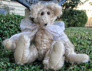 Blondie--curly mohair bear