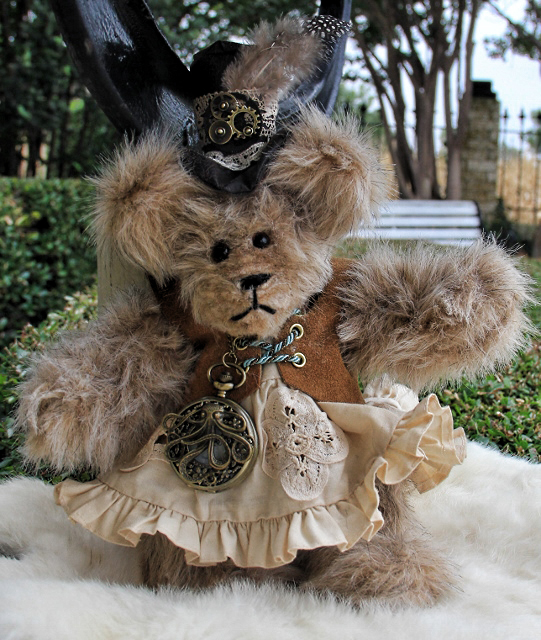 Steampunk Bear with Suede Vest