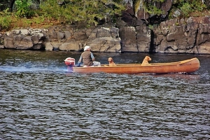 A boater and his dogs