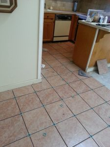 tile in kitchen before grout