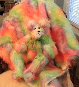 Sherbert bear on fur