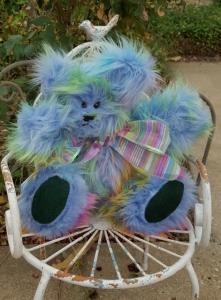 Blue Rainbow Bear Cleo