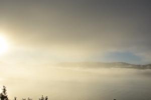 Fog in Scotland, Morning Sunrise
