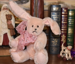 Pink Mohair bunny, Moving Sale Price $29