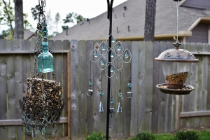 close up of blue and silver wind chimes sunset 001 (640x427)