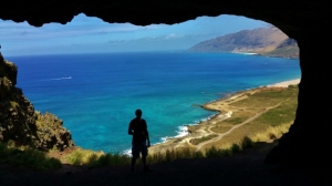 Blaine in Hawaii2 cave (640x360)
