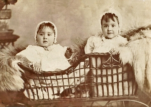 Grandmother and great aunt in basket 3