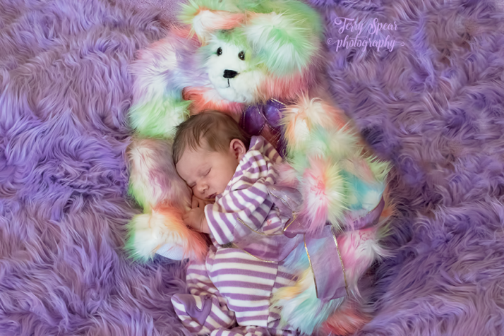 Baby in purple and teddy bears 900 lighter2 011