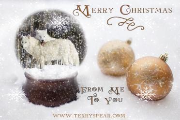 FLP SnowGlobe Gold 900 arctic wolves Merry Christmas
